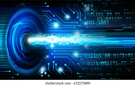 future technology, blue cyber security concept background, abstract hi speed digital internet.motion move blur. pixel.