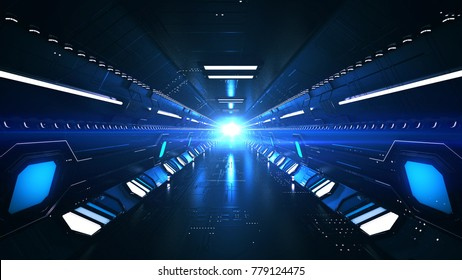 A futuristic 3d rendering of a hypersonic subway placed underground for long trips. The subway goes under the bottoms of world seas and oceans. That is the future of mankind.
