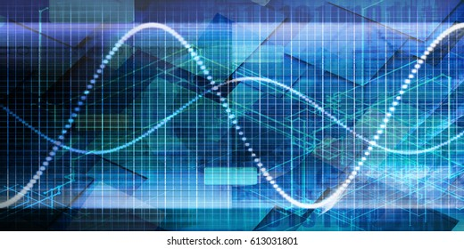 Futuristic Abstract Background with Data Management Chart
