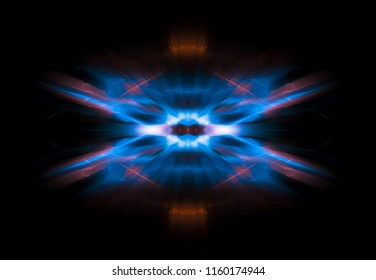 Futuristic abstract blue background template. Magic illustration.