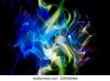 Futuristic abstract blue background template. Magic illustration.