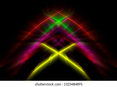 Futuristic abstract multicolor background template. Magic illustration.