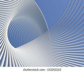 Futuristic architecture background. Elegant modern curves geometric wallpaper