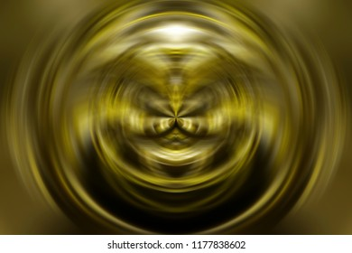 Futuristic background golden circles. Fashionable illustration.