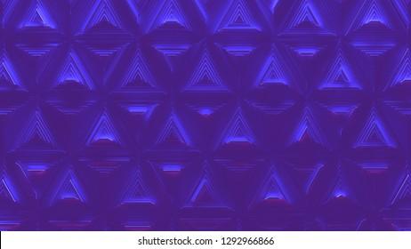 Futuristic background in neon light (3d Illustration)