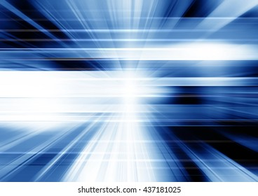 Futuristic blue motion background