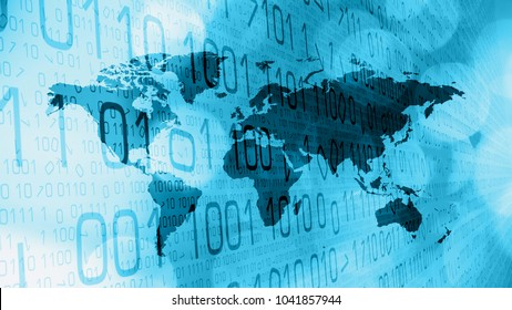 Futuristic cyber war breaking news background