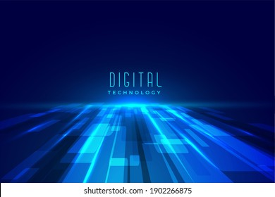 futuristic digital floor technology perspective background illustration
