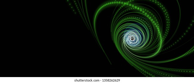 Futuristic eco particle 3D stripe panorama background design illustration