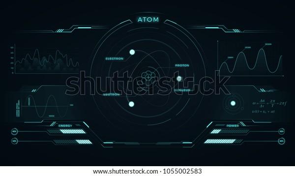 Ilustración De Stock Sobre Diseño Futurista Con Estructura