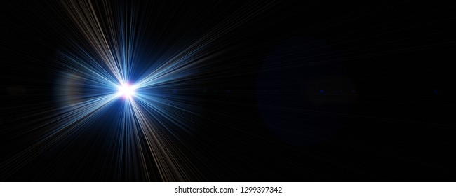 Futuristic light flare panorama background design illustration