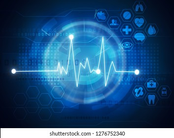 futuristic medical and healthcare background