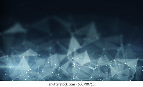 Futuristic network shape. Computer generated abstract technology background