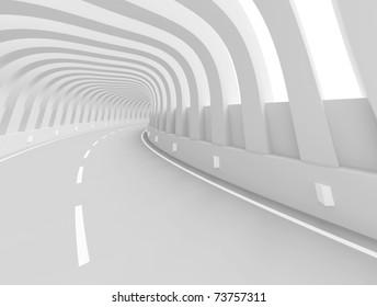Futuristic Road Background