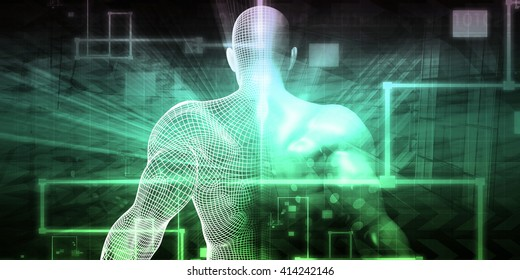 Futuristic Science as a Digital Background Art 3D Illustration Render