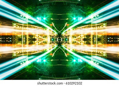 Futuristic Sci-Fi Complex New Era abstract. Hi tech Cyber Space, Advanced Technology concept background.