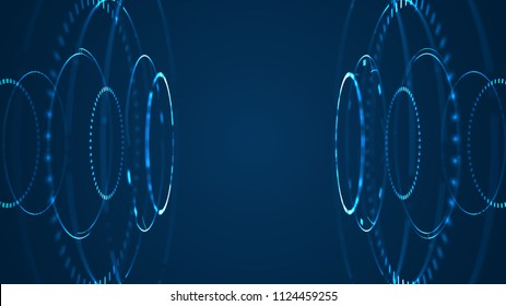 Futuristic Sci-Fi HUD Circle Element platform abstract background template