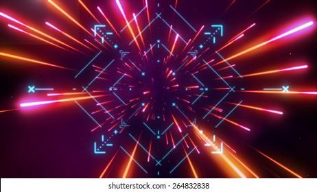Futuristic space tunnel