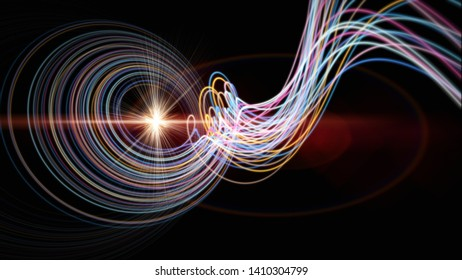 Futuristic stripe background design illustration with lights