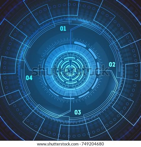 futuristic technology background wallpaper round radarのイラスト素材