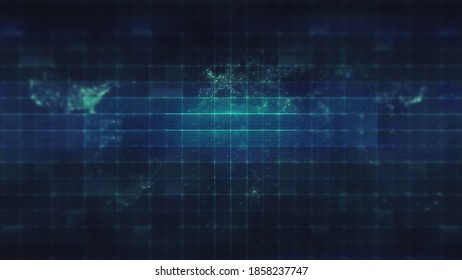 Futuristic UI Blurred HUD Earth Grid Satellite Background