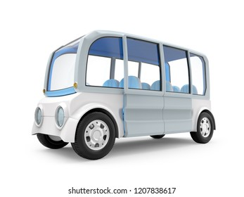futuristic van concept isolated on white. 3d illustration