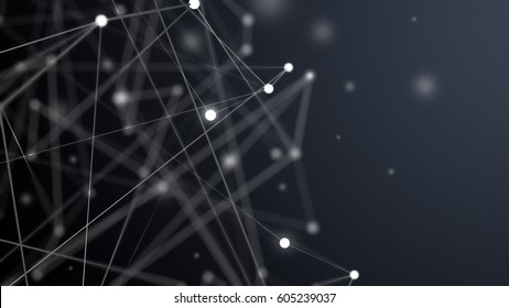 Futuristic virtual technology background. Digital networking concept. 3d rendering