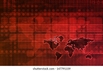 Futuristic Web Cyber Data Grid Color Background