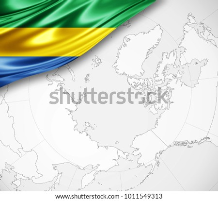 Gabon World Map.Royalty Free Stock Illustration Of Gabon Flag Silk World Map