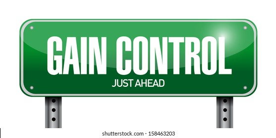 gain control road sign illustration design over a white background