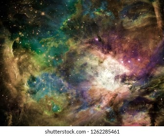 Galactic Space. Vivid Endless Universe. 3D rendering