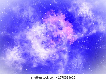 Galaxy background illustration with stars and stardust. Galaxy wallpaper