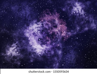 Galaxy background with stars and stardust