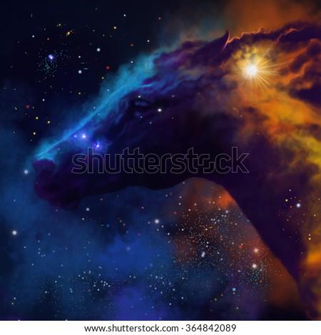 Royalty Free Stock Illustration Of Galaxy Horse Stock Illustration