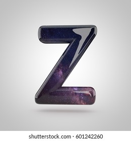 Galaxy Letter Z Uppercase 3d Render Of Galaxy Font With Glittering