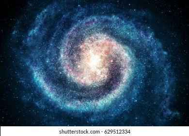 Galaxy in space, beauty of universe, cloud of star, blur background, 3d rendering.