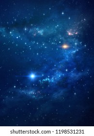 Galaxy and star lights in deep space. High definition universe background.