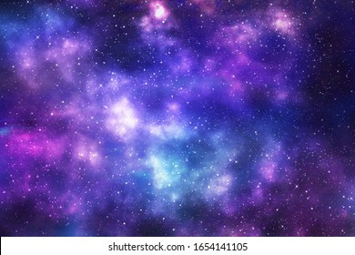 Galaxy with stars and space background. backdrop illustration