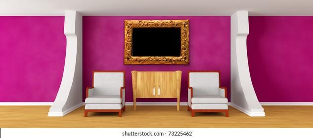 Salon Mur En Brique Stock Illustrations Images Vectors