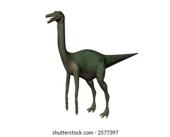 A gallimimus, rendered with ray-tracer Bryce 6