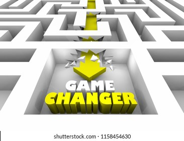 Game Changer New Breaking Rules Walls Maze 3d Illustration