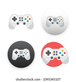 Game controller icon on white background