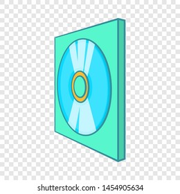 Game disk icon. Cartoon illustration of disk icon for web design