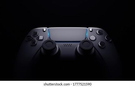 Gamepad on black background - 3d render
