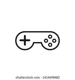 Gamepad outline icon. Clipart image isolated on white background