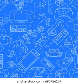 Gamepad seamless texture Video game controller background