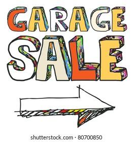 garage sale, crazy doodle