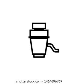 Garbage disposal unit icon. Clipart image isolated on white background