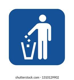 Garbage icon symbol