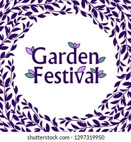 Garden festival invitation template